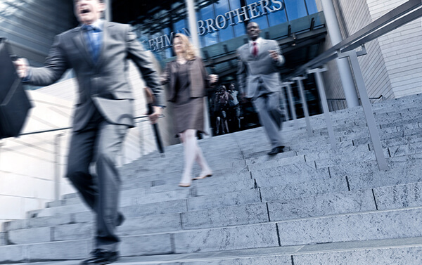 Lehman Brothers 2008: employees running
