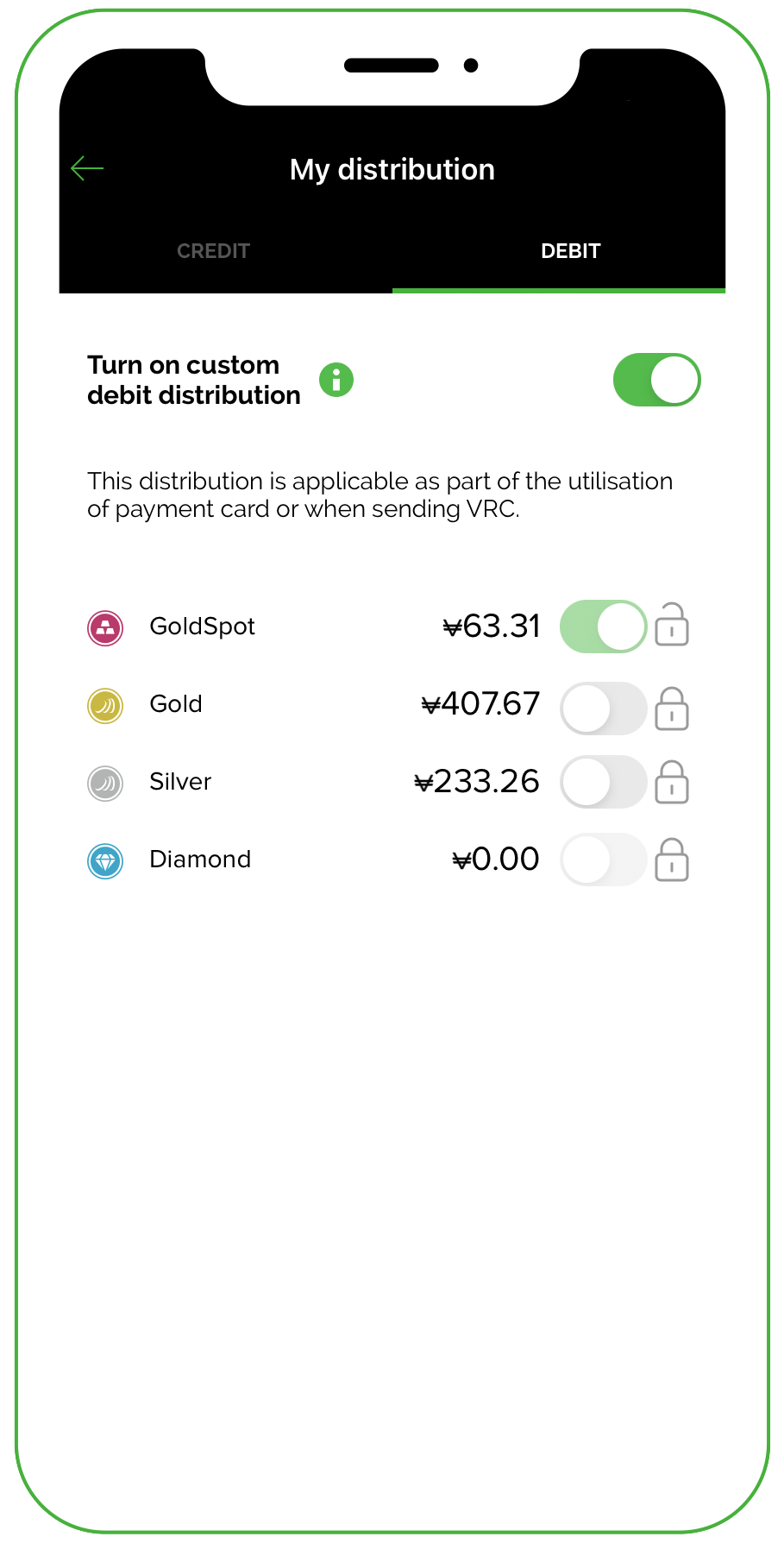 Manage your VeraCash distribution