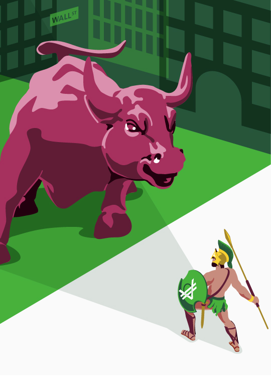 Wall Street Bull against VeraCash Spartan